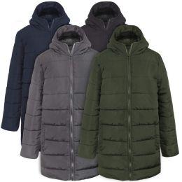 20 Units of Boy's Hooded Puffer Winter Coat - 4 Colors - Junior Kids Winter Wear