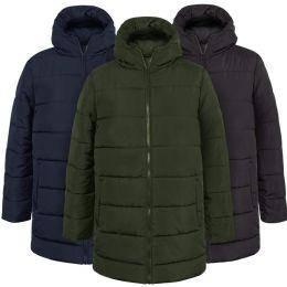 20 of Men's Hooded Puffer Winter Coat - 3 Colors