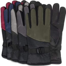 50 Units of Adult Winter Color Block Gloves - Assorted Colors - Winter Gloves