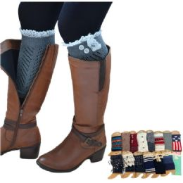 144 Units of Mix & Match Boot Cuffs - Womens Leg Warmers