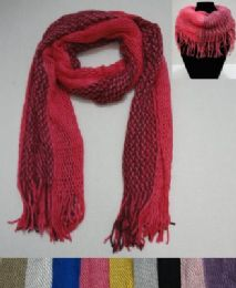 24 of Scarf/Loop Scarf with Fringe Two-Tone