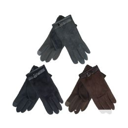 36 Units of Unisex Faux Suede Gloves Touch - Conductive Texting Gloves