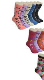 360 Units of Ladies Dog Variety Printed Crew Socks Size 9-11 - Womens Crew Sock