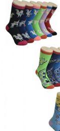 360 Units of Ladies Assorted Variety Printed Crew Socks Size 9-11 - Womens Crew Sock