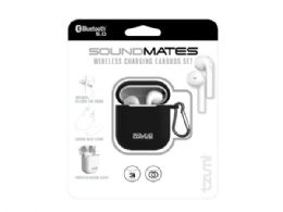 6 Wholesale SoundsMates True Wireless Bluetooth 5.0 Earbuds Black Combo Pack