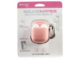 6 Wholesale SoundsMates True Wireless Bluetooth 5.0 Earbuds Pink Combo Pack