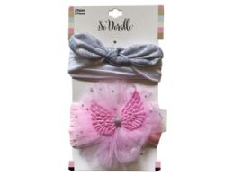 108 Units of Two Set HeadBand Wings and Silver Hair Tie - Headbands