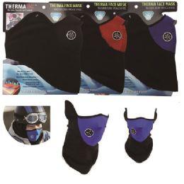 36 Units of Vented Thermal Fleece Windproof Half Face Mask - Unisex Ski Masks