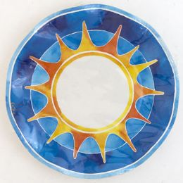 120 Bulk Paper Plates Round 10pk 8.25in Summer Small