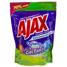 8 Units of Laundry Gel Packs 16ct Ajax Ext Clean Resealable Bag - Laundry Detergent