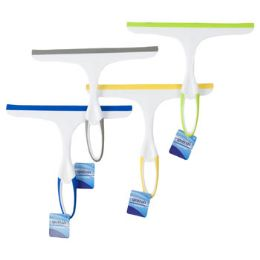 48 Bulk Squeegee 9.5in White W/4ast Color Trim Blade/handle Clean ht