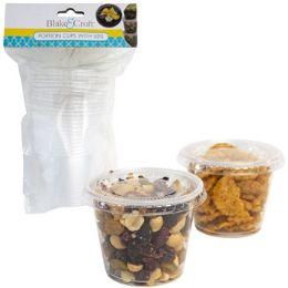 24 Bulk Sauce Cups W/lids 12pc 5.5oz Clear Plastic B&c Kitch Art Pbh