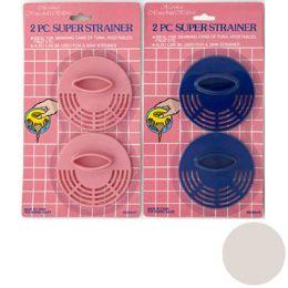 144 Bulk Super Strainer 2pc Assorted Carded/peggable