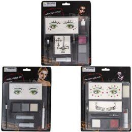 24 Bulk Makeup Kit 3ast W/gems Gothic/angel/day Of Dead Blc