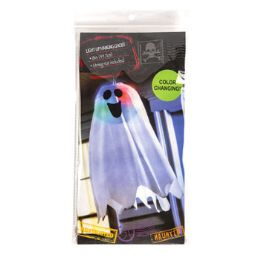 24 Wholesale Ghost 18in Colorchange LighT-Up Hanging Paper Lantern W/ghost