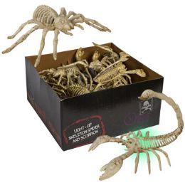 24 Wholesale Skeleton Spider/scorpion Lightup