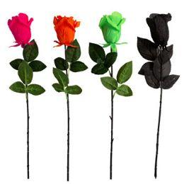 24 Wholesale Rose Halloween Long Stem 4ast
