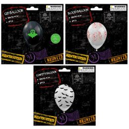 36 Wholesale Balloon 6pc Halloween Gid,bloody