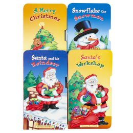 48 Units of Board Books Christmas 4asst Titles 9x4.25 In 24ct Cntr Disp - Christmas