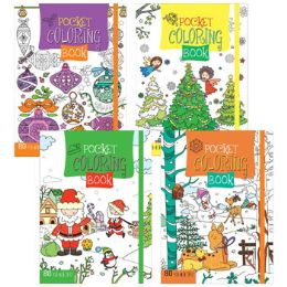 48 Units of Christmas Coloring Book Pocket - Coloring & Activity Books