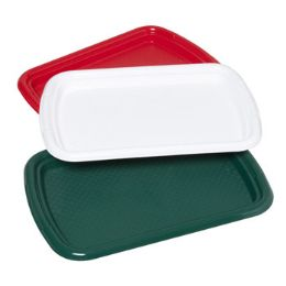 48 Units of Serving Tray Rectangualr 15x10 3 Christmas Colors In Pdq - Christmas