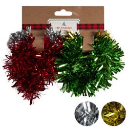 24 Units of Hairtie Christmas Tinsel 4pc 4-Color Pack Xmas Tcd - Christmas