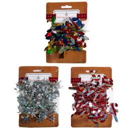 36 Units of Tinsel Wire Garland Mini 15.7ft Candy Cane/flake/bulb Tcd - Christmas