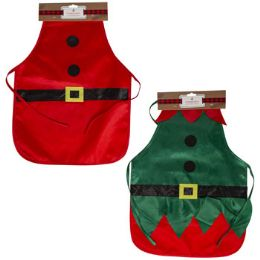 24 Units of Apron Kids Santa/elf Satin - Kitchen Aprons