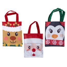 36 Units of Gift Bag Felt Christmas 3ast - Christmas Gift Bags and Boxes