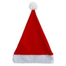 36 Units of Santa Hat 17in Felt W/plush Cuff Red/hanger Card - Christmas