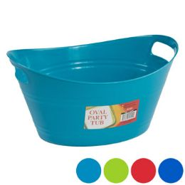 48 Bulk Basket Oval Tub W/double Handles 5.25 X 12.5 - 4 Colors In Pdq