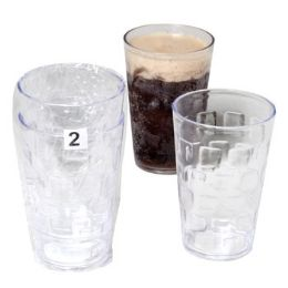 48 Units of Tumblers GlasS-Look Clear 2pk 18 Oz In A White Pdq - Plastic Drinkware