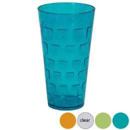 48 Units of Tumblers GlasS-Look 4 Colors 1ct 24 Oz In Pdq - Plastic Drinkware