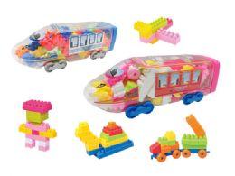 24 of Blocks Train Play Set