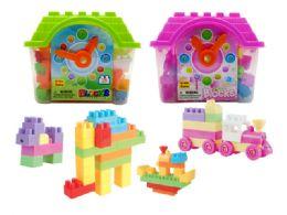 18 of Blocks House Play Set