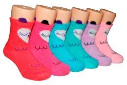 480 Bulk Toddler Girls Ankle Sock