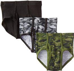 36 Units of Hanes Boys Printed Cotton Briefs Size Large - Boys Underwear