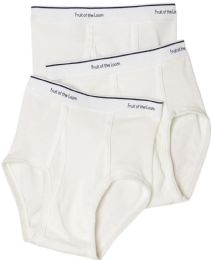 288 Units of Boys Cotton White Briefs Assorted Sizes 6-13 - Boys Underwear