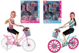 24 Units of Sport Doll with Bike Play Set - Dolls