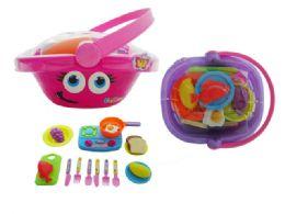 24 Units of Kitchen Basket Play Set - Toy Sets