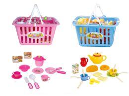 36 Units of Kitchen Basket Play Set - Toy Sets