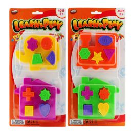 72 Units of 10 Pcs Learn Puzzle Block On Card - Puzzles