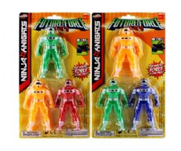 144 Units of 6x12in 3 Pcs 5in Robot On Card - Action Figures & Robots