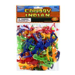 """96 Units of 72 Pc. 1.75"""" Cowboy And Indian In Pp Bag - Action Figures & Robots"""