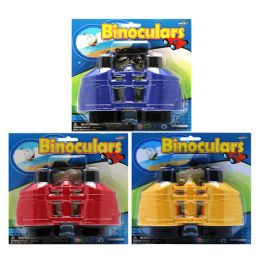 72 Units of Binoculars On Card (yelloW- BluE- Red) - Educational Toys