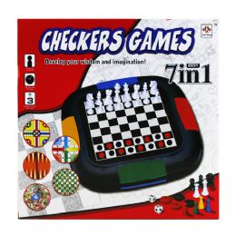 24 Units of 7 In 1 Chess Games In Col. Box - Educational Toys