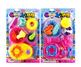 72 Units of 2 Asstd. 9 Pcs Cooking Play Set On Card - Educational Toys