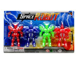 48 Units of 4 Pcs. 4in Robot On Card - Action Figures & Robots