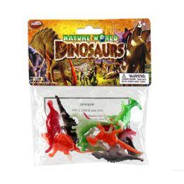 48 Units of 10 Pcs 2in Dinosaurs In Environmental Pvc Bag - Animals & Reptiles
