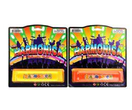 288 Bulk 5.5in Harmonica On Card (solid Yellow & Orange)